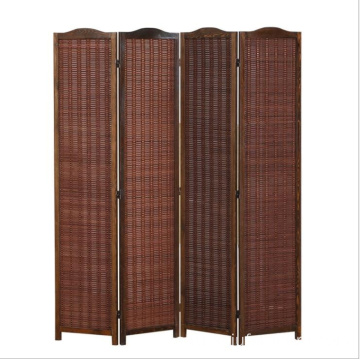 4 panels Wood hanging screen room divider